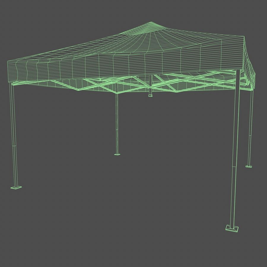 Tenda Evento Nera royalty-free 3d model - Preview no. 3