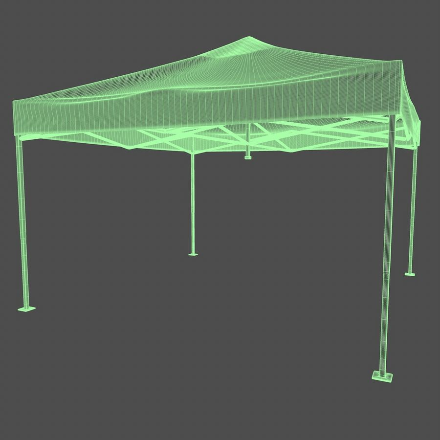 Tenda Evento Nera royalty-free 3d model - Preview no. 5