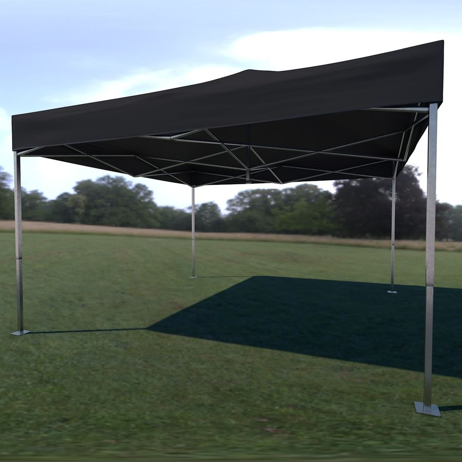 Tenda Evento Nera royalty-free 3d model - Preview no. 2