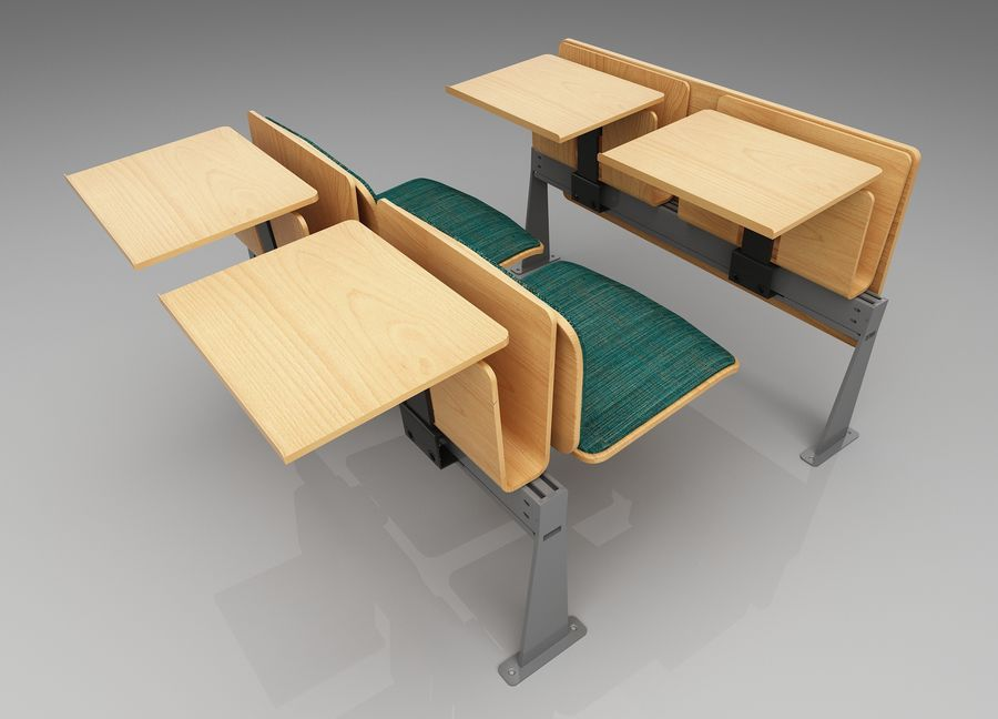 Lecture Desk royalty-free 3d model - Preview no. 2