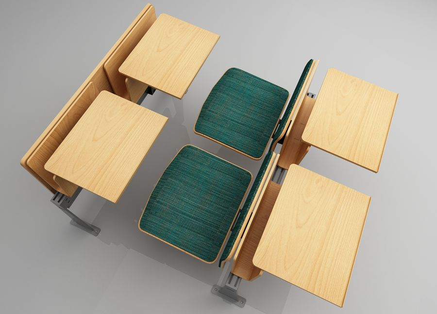 Lecture Desk royalty-free 3d model - Preview no. 5