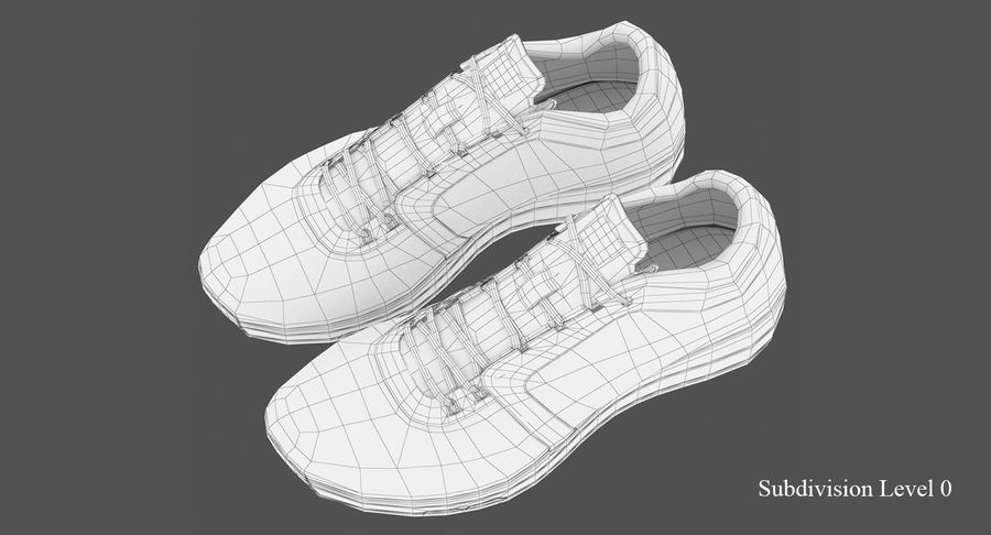 Sneakers royalty-free 3d model - Preview no. 9
