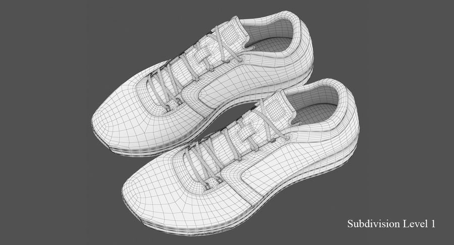 Sneakers royalty-free 3d model - Preview no. 10