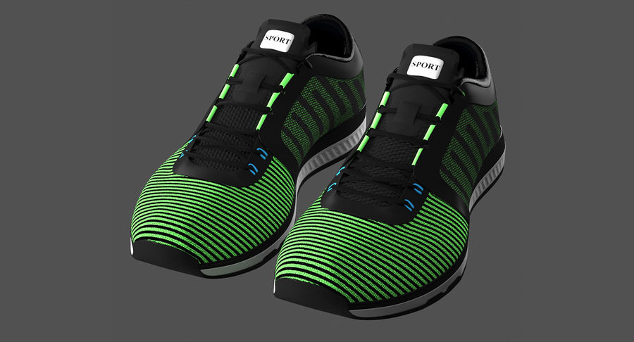 Sneakers royalty-free 3d model - Preview no. 4