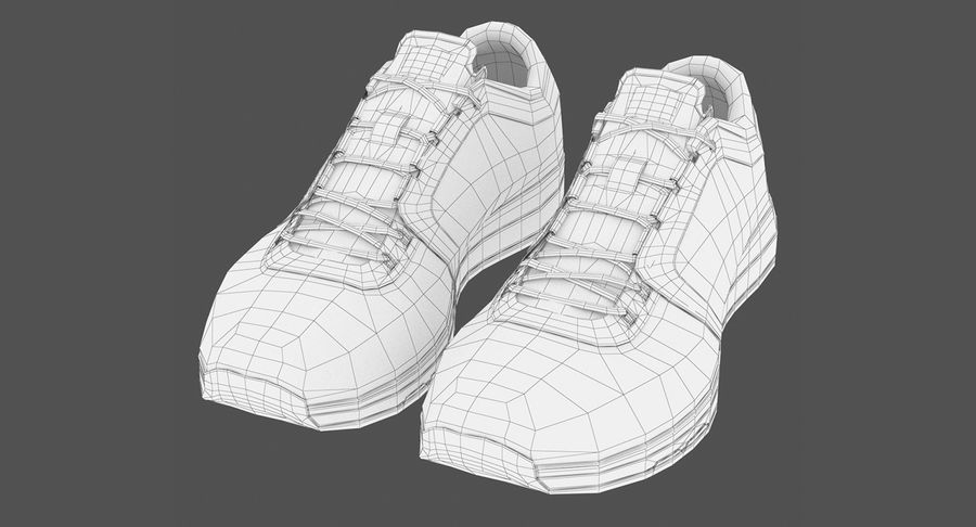 Sneakers royalty-free 3d model - Preview no. 12