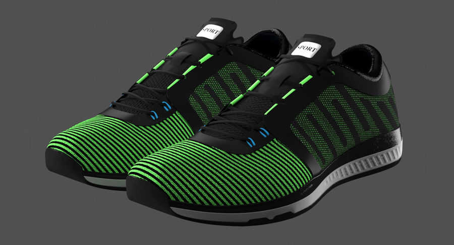 Sneakers royalty-free 3d model - Preview no. 3
