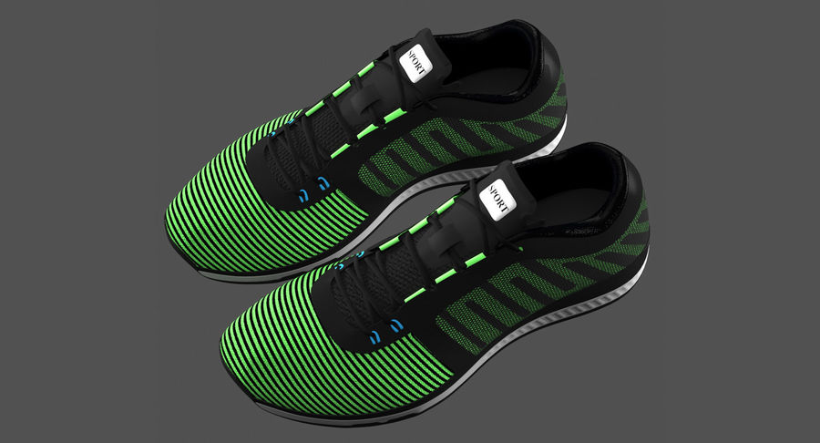 Sneakers royalty-free 3d model - Preview no. 2