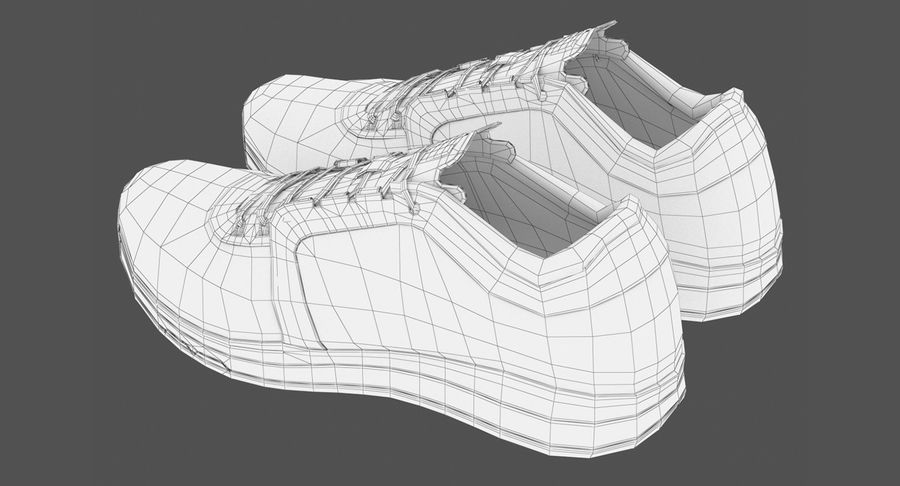 Sneakers royalty-free 3d model - Preview no. 13