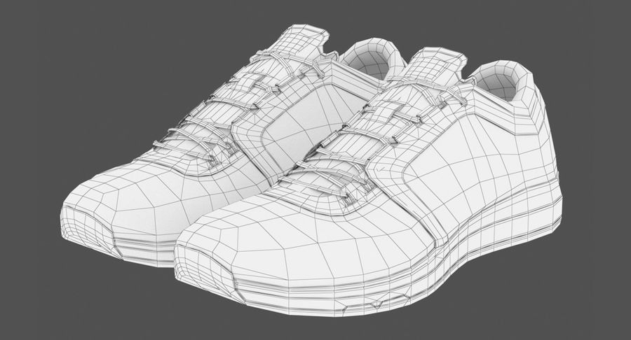 Sneakers royalty-free 3d model - Preview no. 11
