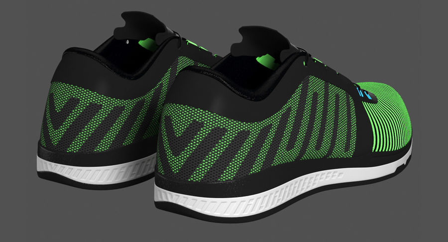 Sneakers royalty-free 3d model - Preview no. 8