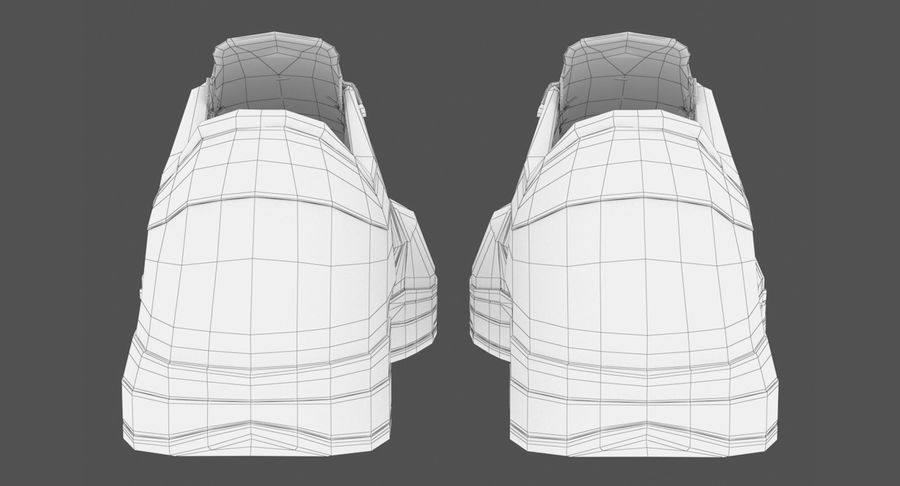 Sneakers royalty-free 3d model - Preview no. 15