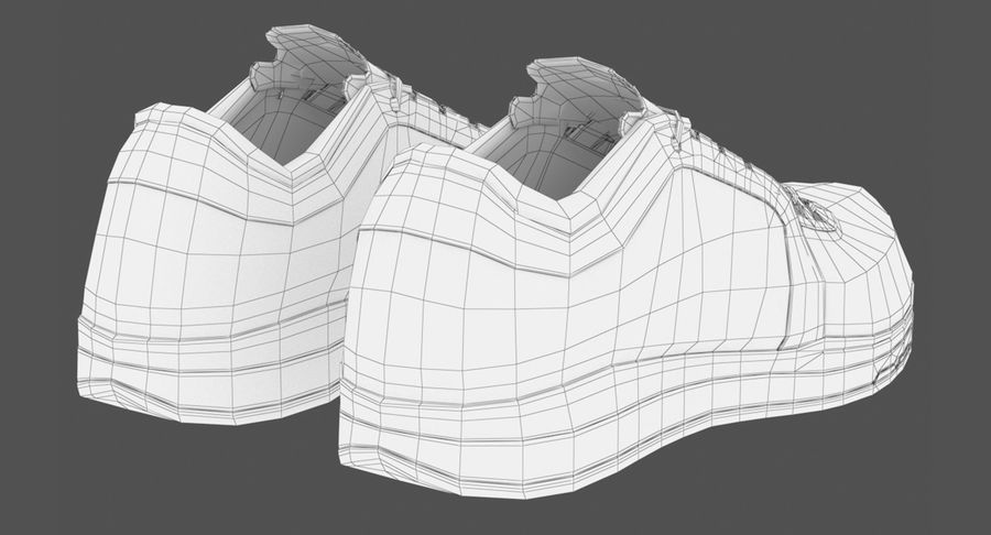 Sneakers royalty-free 3d model - Preview no. 16