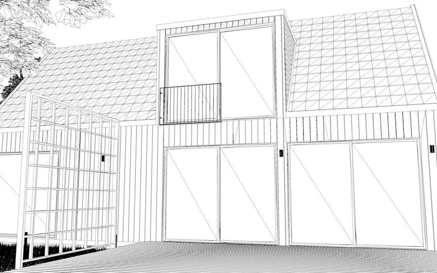 Haus der Hausszene 3D des Corona Nacht- und Tagesmodells royalty-free 3d model - Preview no. 11