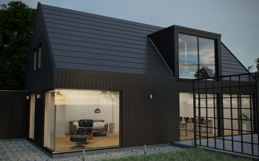 Haus der Hausszene 3D des Corona Nacht- und Tagesmodells royalty-free 3d model - Preview no. 2
