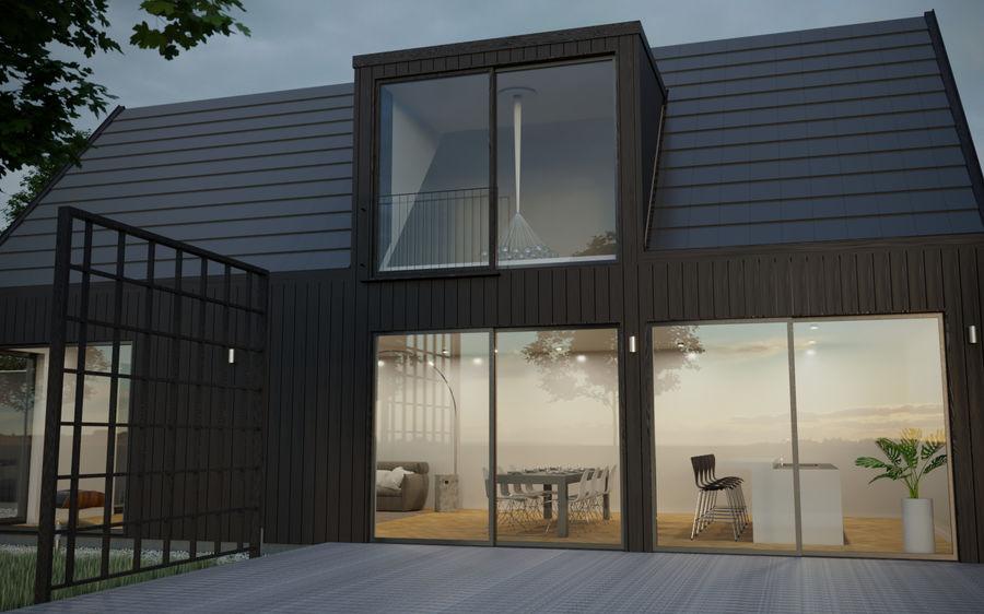 Haus der Hausszene 3D des Corona Nacht- und Tagesmodells royalty-free 3d model - Preview no. 3