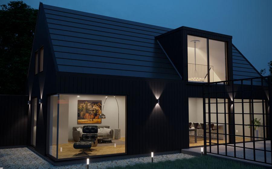 Haus der Hausszene 3D des Corona Nacht- und Tagesmodells royalty-free 3d model - Preview no. 6