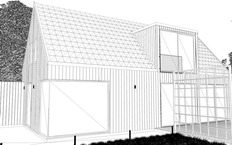 Haus der Hausszene 3D des Corona Nacht- und Tagesmodells royalty-free 3d model - Preview no. 10