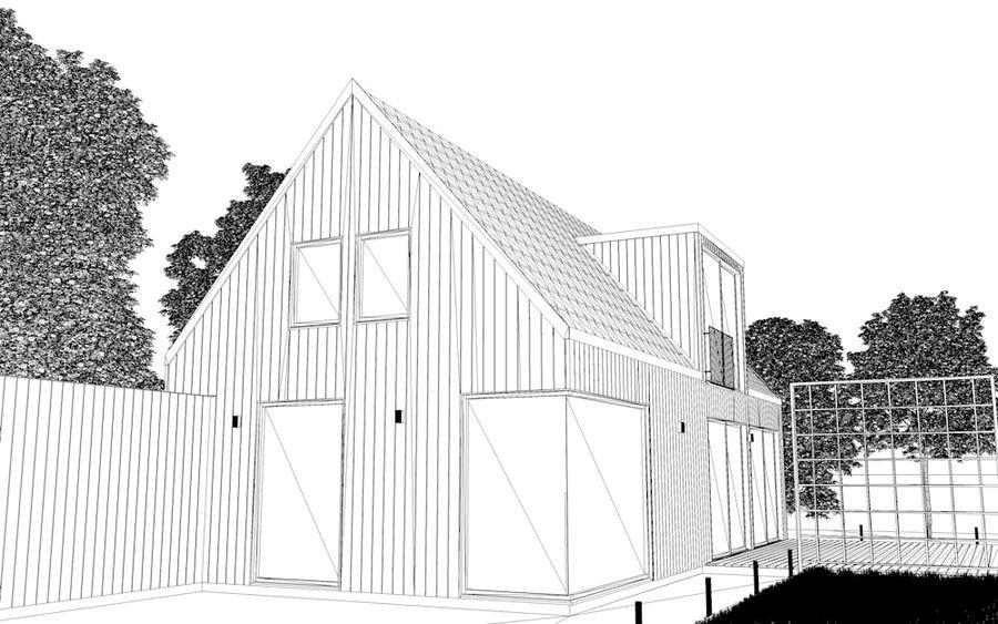 Haus der Hausszene 3D des Corona Nacht- und Tagesmodells royalty-free 3d model - Preview no. 12