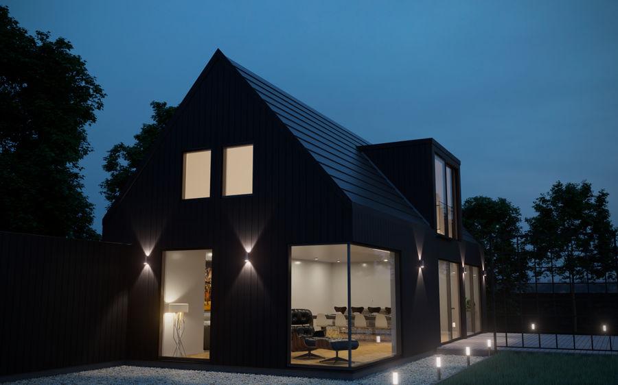 Haus der Hausszene 3D des Corona Nacht- und Tagesmodells royalty-free 3d model - Preview no. 8