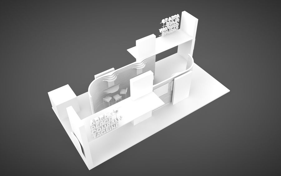 Exhibition Stand royalty-free 3d model - Preview no. 6