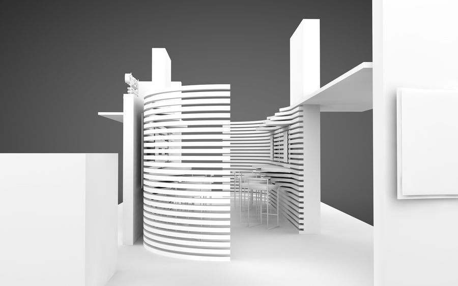 Exhibition Stand royalty-free 3d model - Preview no. 10