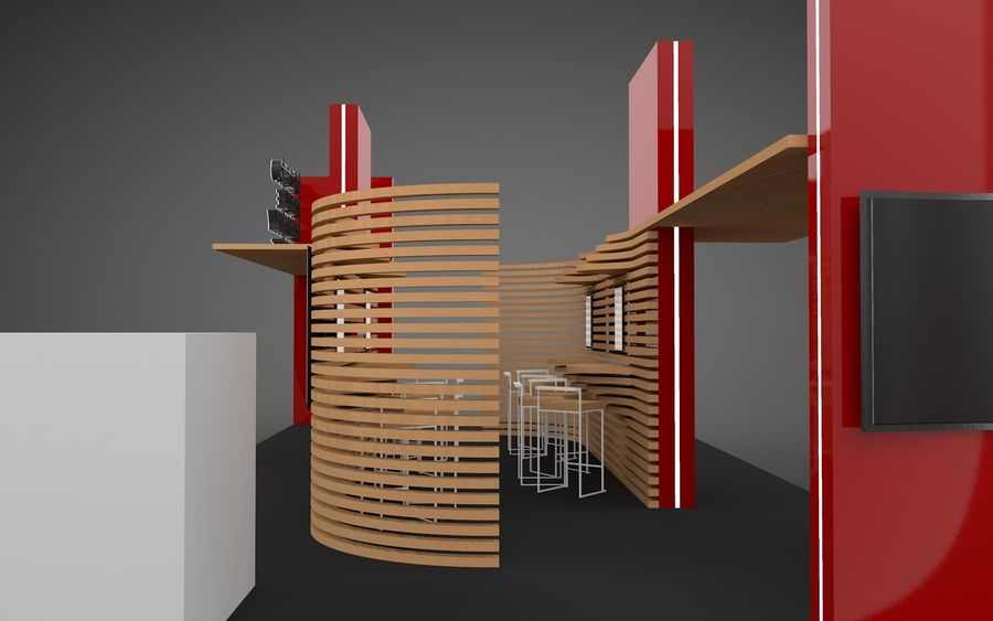Exhibition Stand royalty-free 3d model - Preview no. 5