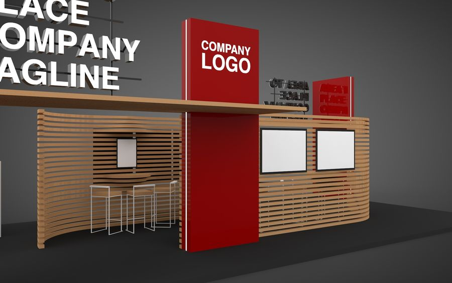Exhibition Stand royalty-free 3d model - Preview no. 4