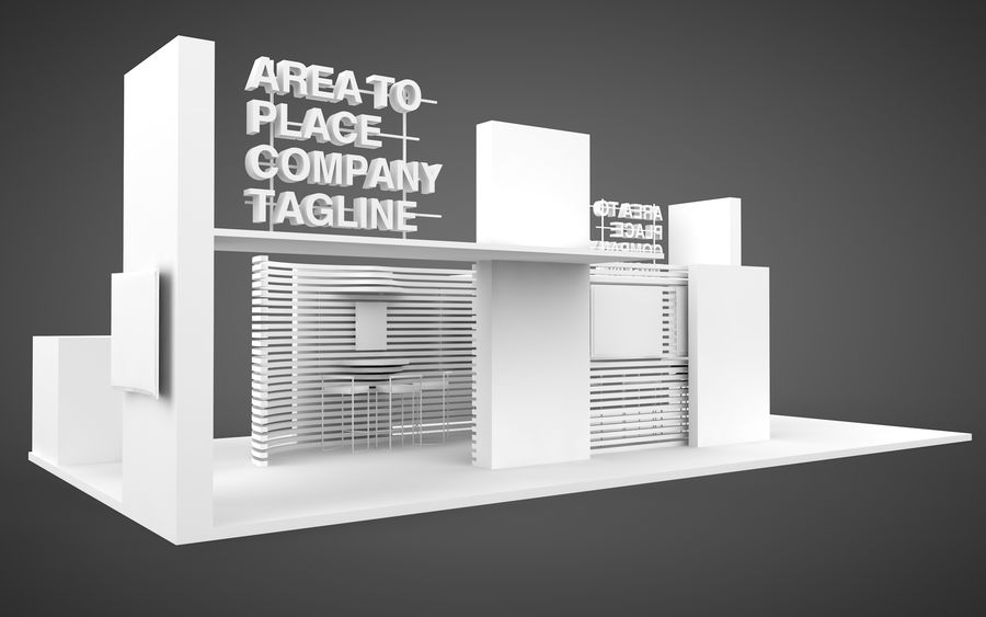 Exhibition Stand royalty-free 3d model - Preview no. 7
