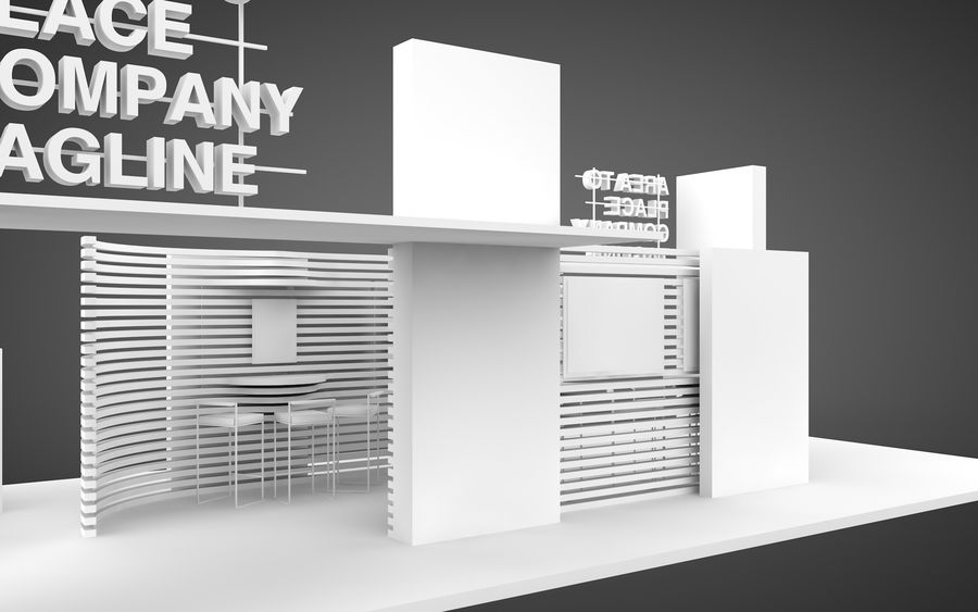 Exhibition Stand royalty-free 3d model - Preview no. 9