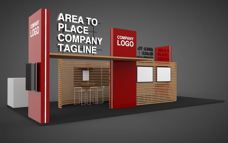 Exhibition Stand royalty-free 3d model - Preview no. 1