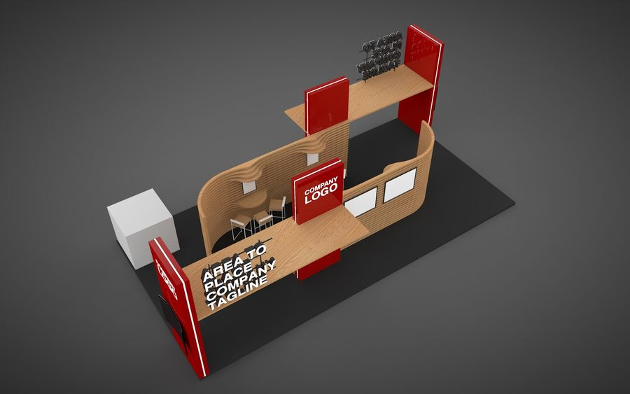 Exhibition Stand royalty-free 3d model - Preview no. 2