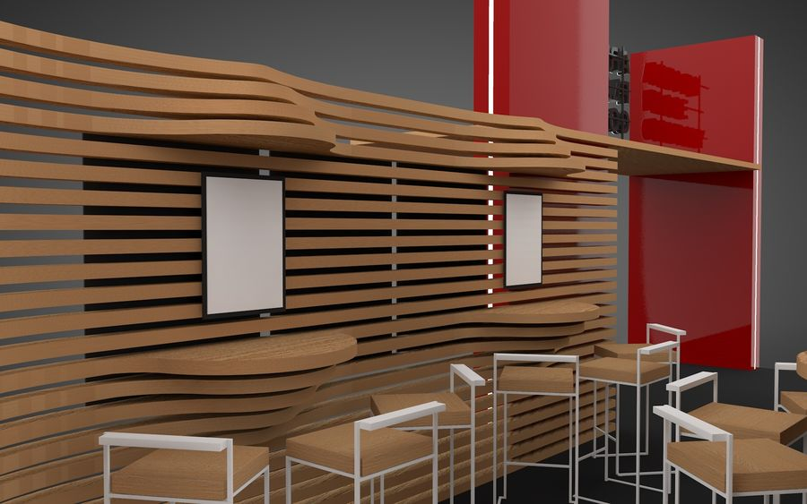 Exhibition Stand royalty-free 3d model - Preview no. 3