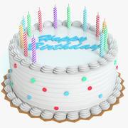 Pastel de cumpleaños modelo 3d