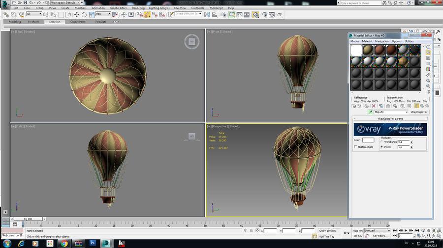 air balloon royalty-free 3d model - Preview no. 18