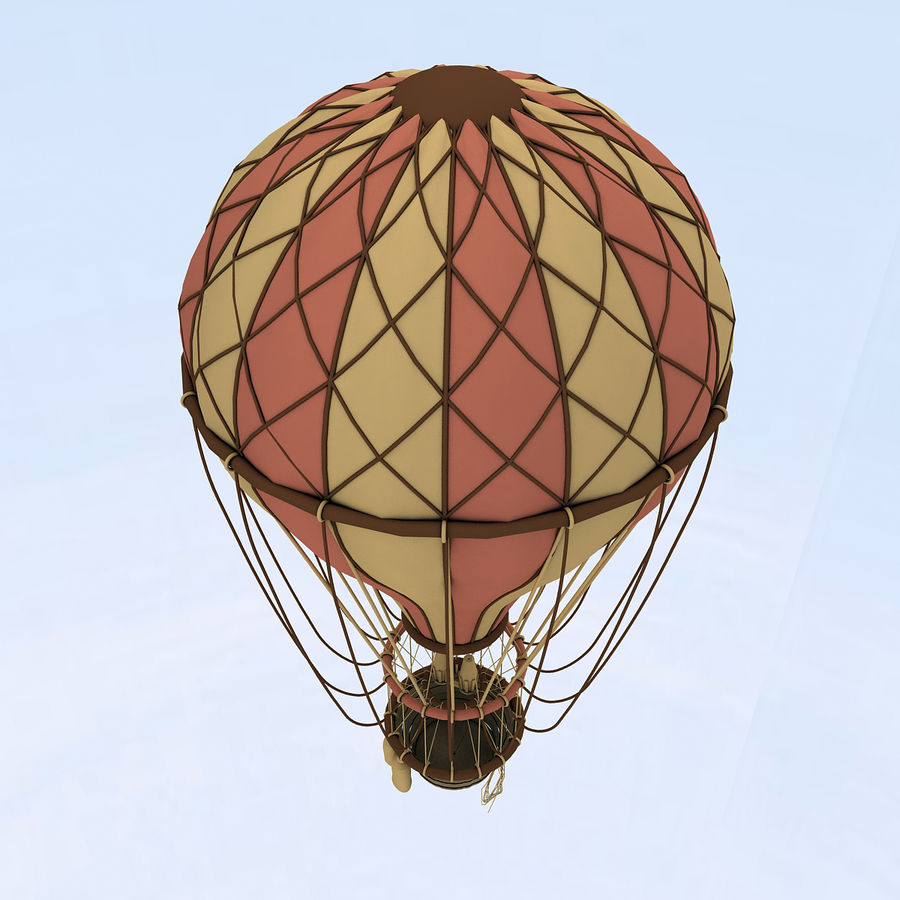 air balloon royalty-free 3d model - Preview no. 15