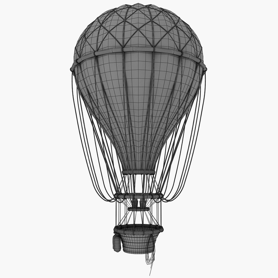 air balloon royalty-free 3d model - Preview no. 16