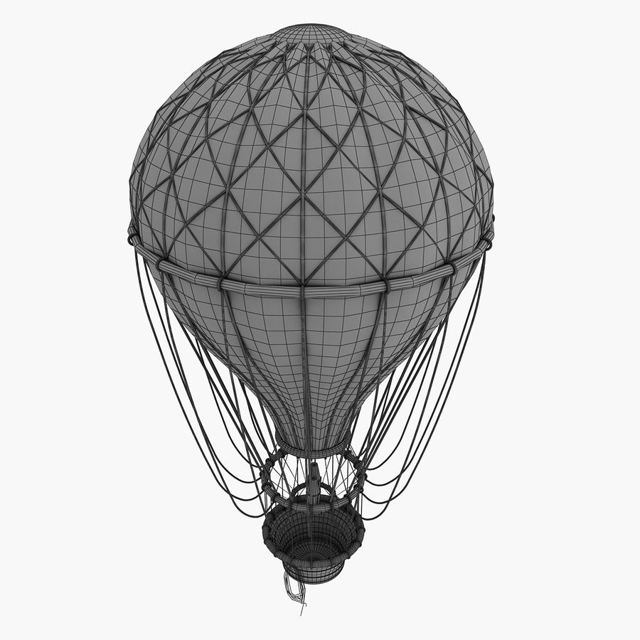 air balloon royalty-free 3d model - Preview no. 8