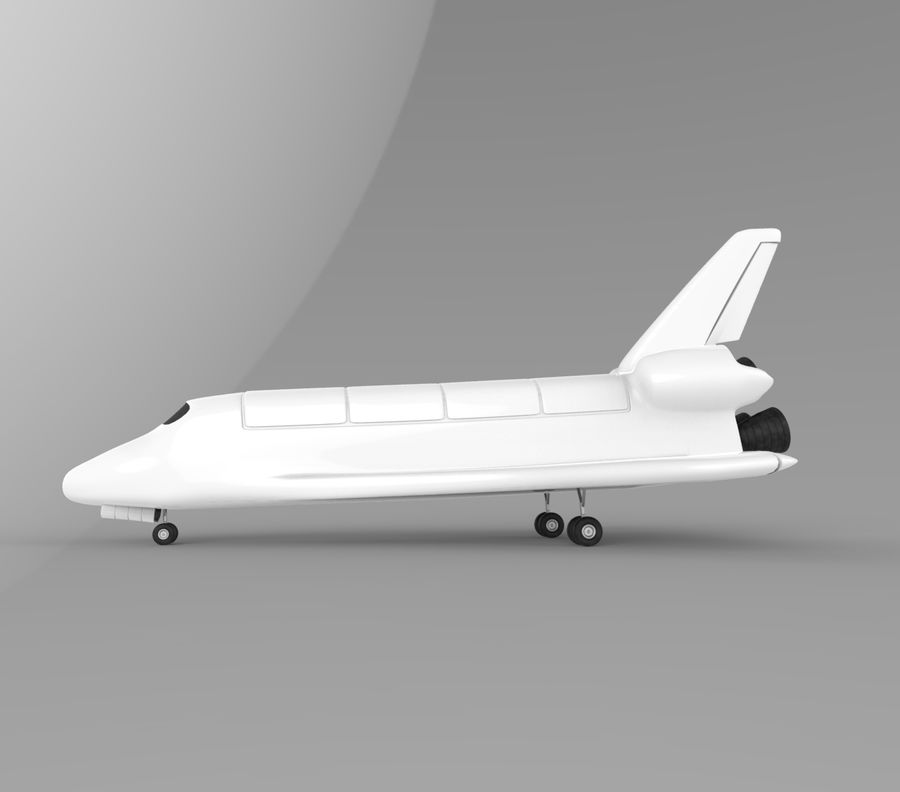 Navette spatiale royalty-free 3d model - Preview no. 4