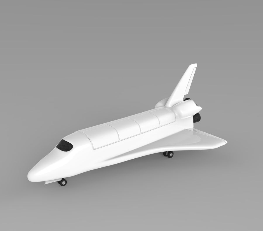 Navette spatiale royalty-free 3d model - Preview no. 1