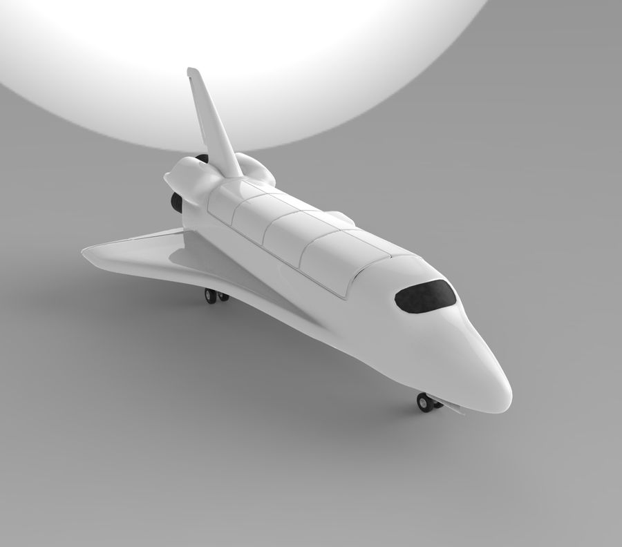 Navette spatiale royalty-free 3d model - Preview no. 2