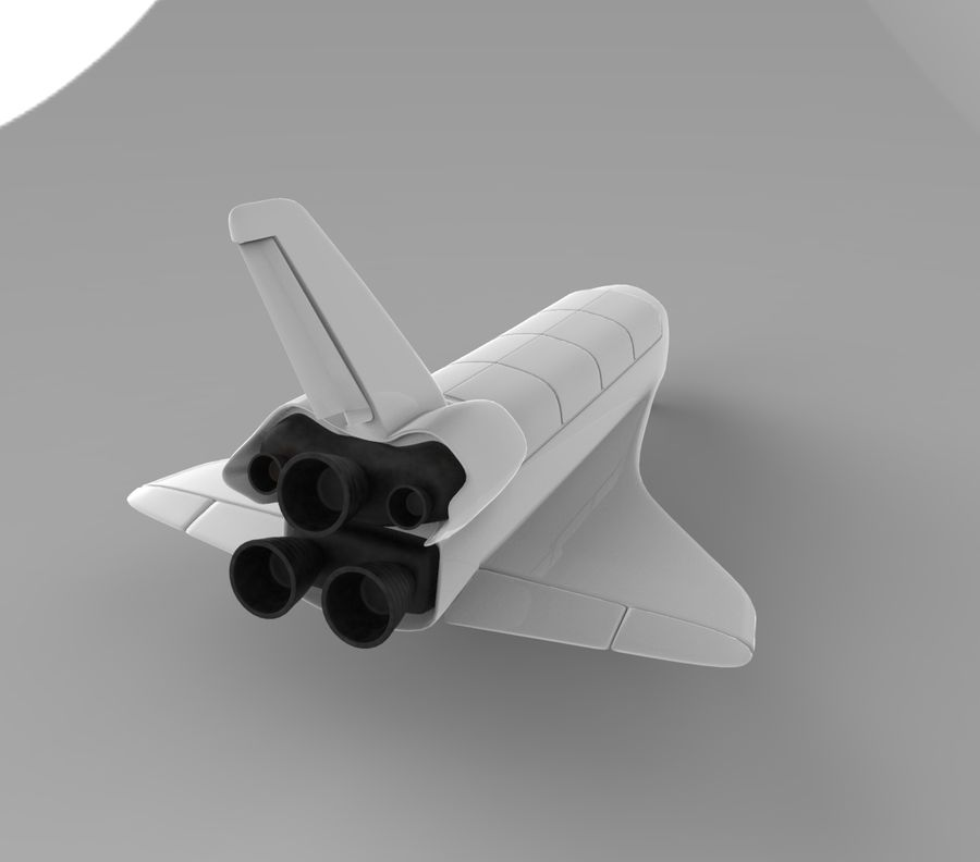 Navette spatiale royalty-free 3d model - Preview no. 3