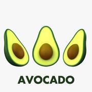 Cartone animato avocado 3d model