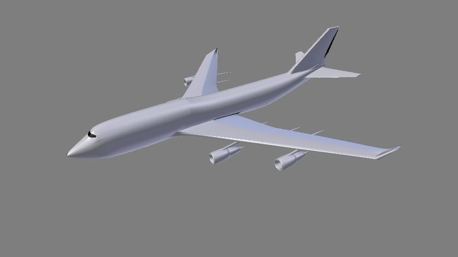 AirCraft High Poly royalty-free 3d model - Preview no. 2