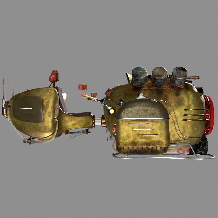 Steampunk Hover Bike (Maya Rigged) royalty-free 3d model - Preview no. 4