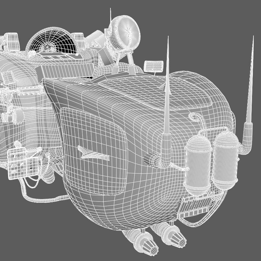 Steampunk Hover Bike (Maya Rigged) royalty-free 3d model - Preview no. 9