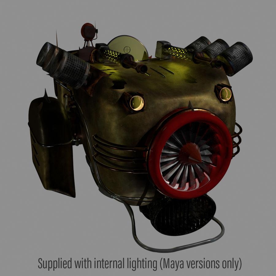 Steampunk Hover Bike (Maya Rigged) royalty-free 3d model - Preview no. 5