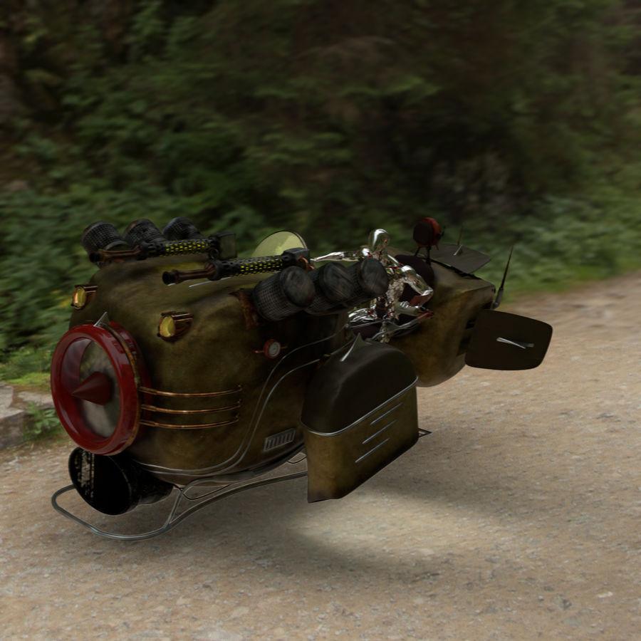 Steampunk Hover Bike (Maya Rigged) royalty-free 3d model - Preview no. 6