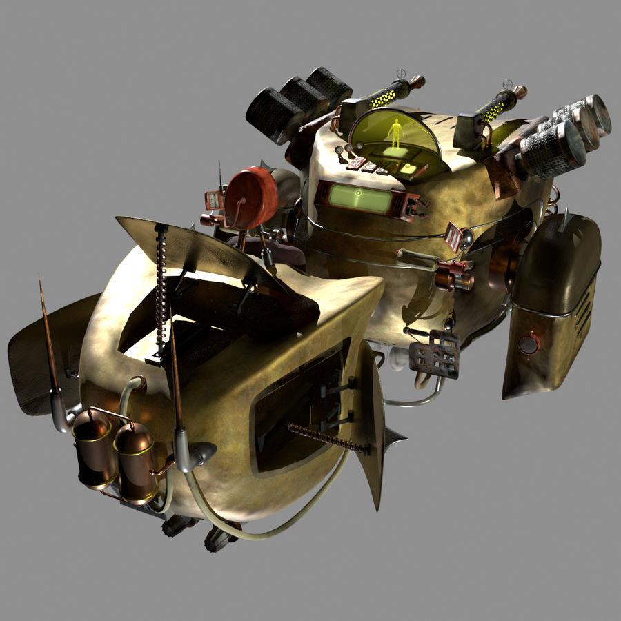 Steampunk Hover Bike (Maya Rigged) royalty-free 3d model - Preview no. 2