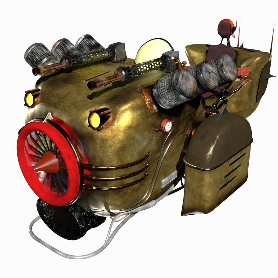 Steampunk Hover Bike (Maya Rigged) royalty-free 3d model - Preview no. 1
