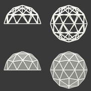 IcoSphere ve Jeodezik Kubbe 3d model